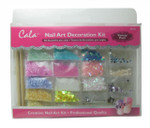 Nail Art Variety Pack (Shimmer Flakes, 3D Shapes, Glitter)) by Cala