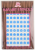 Piggy Paint for Kids Abstract (Blue) Nail Stencils