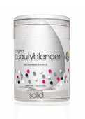 Beauty Blender Single White Pure Sponge & Mini Solid Blender Cleanser Set