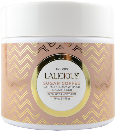 LaLicious Sugar Coffee 453g/16oz Extraordinary Whipped Sugar Scrub Fallene Face Cotz Water-Resistant Sun Protection UVA/UVB SPF 40 1.5-Ounce Tube
