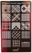 Konad Nail Art Square Image Plate #13: Cris-Cross, Diamond Cross Patterns, etc