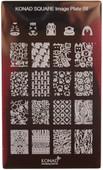 Konad Nail Art Square Image Plate #08: Animals, Dog Paw Prints, etc