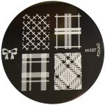 Konad Nail Art Image Plate #M107 (Bow, Patterns)