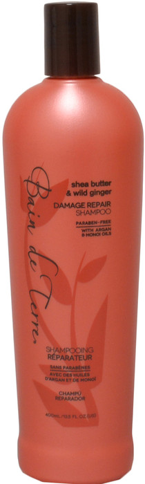 Bain De Terre Shea Butter & Wild Ginger Damage Repair Shampoo (13.5 fl. oz. / 400 mL)