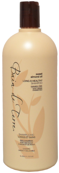Bain De Terre Sweet Almond Oil Long & Healthy Shampoo (33.8 fl. oz. / 1 L)