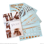 Flash Tattoos Lunar Love Temporary Tattoos