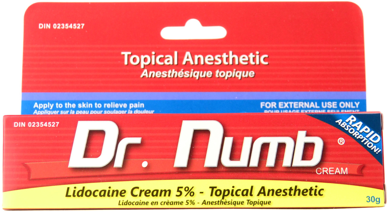 Dr Numb Topical Anesthetic Pain Relief Cream 30 G Free Shipping