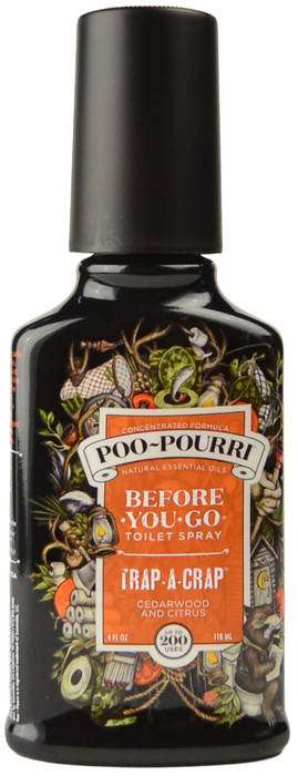 Large Trap-A-Crap Poo-Pourri Before You Go Toilet Spray (4 fl. oz. / 118 mL)