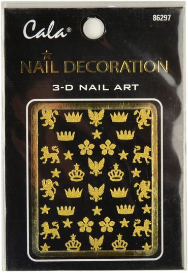 Cala Royal Symbols Gold Glitter 3D Nail Decal
