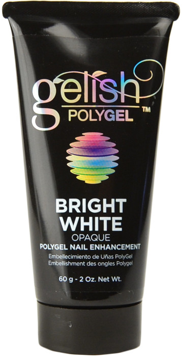 Gelish PolyGel Bright White Opaque PolyGel Nail Enhancement
