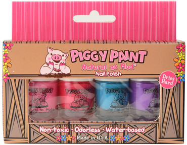 Piggy Paint for Kids 4 pc Mini Polish Set