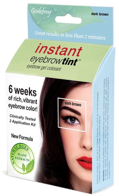 Godefroy Dark Brown Instant Eyebrow Tint Kit, Free Shipping at Nail ...