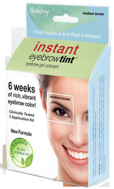 Godefroy Medium Brown Instant Eyebrow Tint Kit, Free Shipping at ...