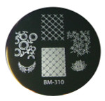 Bundle Monster Image Plate #BM-310: Full Nail, Assorted