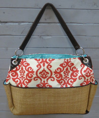 Coral and Cream Chic Diaper Bag