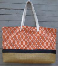 Orange and Navy Pool Bag