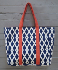 Dark Blue City Tote