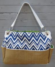 Blue Chevron Chic Diaper Bag