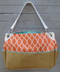 Orange and Blue Chic Diaper Bag