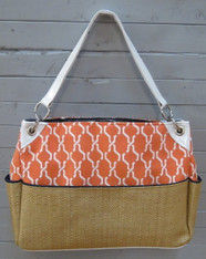 Orange and Navy Chic Diaper Bag