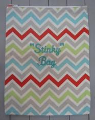 Multicolored Chevron Stinky Bag