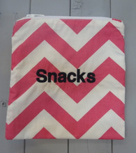 Pink Chevron Snack Bag