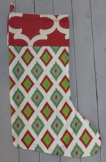 Green with Red Diamond Stocking
