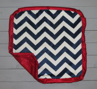Navy Chevron Thumb Blanket