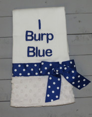 I Burp Blue Polkadot Burp Cloth
