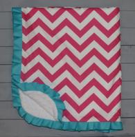 Pink Chevron Blanket