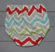 Multicolored Chevron Diaper Cover