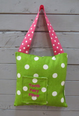Green Polkadot Tooth Fairy Pillow