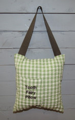 Green Gingham Tooth Fairy Pillow