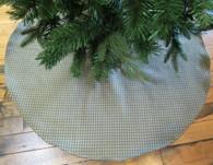 Green Check Large Tree Skirt