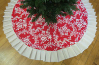 Red and Cream large Tree Skirt