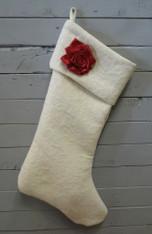 Cream Rose Stocking