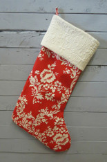 Red with Cream Band Stocking