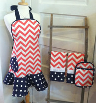 Orange Chevron Apron