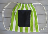 Green Stripe Gym Bag