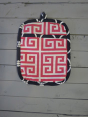 Pink and Navy Pot Holder