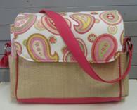 Pink Paisley Large Diaper Bag