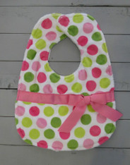 Pink and Green with Bow Bib