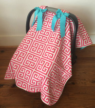 Pink Greek Car Seat Cover