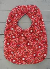 Red Paisley Bib