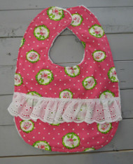 Pink and Green Bib