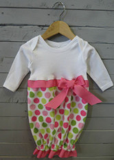 Pink and Green Dot Bunt Sack