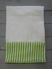 Green Stripe Burp Cloth
