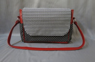 Houndstooth Large Diaper Bag