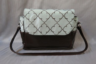 Brown and Blue Large Diaper Bag