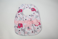 Pink Zoo Bib with Bow